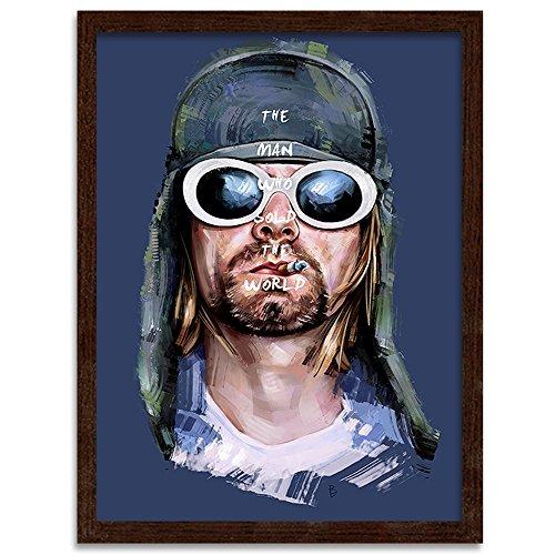 Feeby. Tableau encadré, Tableau Déco, Tableau Mural, Décoration Murale Image Imprimée, 1 Partie - 40x60 cm, Dmitry Belov - Musique Bleu