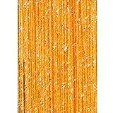 SDYDAY 1 x 2 m de borla cadena cuentas flecos para colgar cortina divisor puerta ventana panel pared hogar oficina decoración, Naranja, Tamaño libre