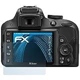 3 x atFoliX Lámina Protectora de Pantalla Nikon D3300 Película Protectora - FX-Clear ultra transparente