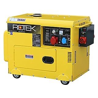 Rotek Diesel Stromerzeuger mit Notstart-Automatik GD4SS-3-6000-EBZ-ATS (6,0 kVA / 5,0kW 400V 50Hz 3-phasig)