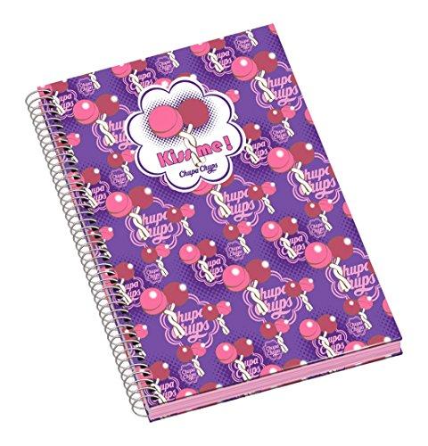 chupa-chups-dohe-50185-kiss-quaderno-a-spirale-formato-a5-96-pagine