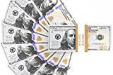 Prop $100 Dollar Bills - Fake Money Set of 100 US Notes for Film Movie TV Kids Play - $10, 000 in Cash with Straps