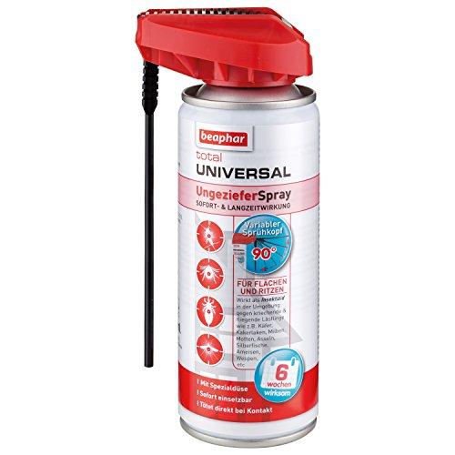 Total Universal UngezieferSpray | Wirkt sofort abtötend gegen Insekten | Für Tierumfeld, Haushalt, Garten | 6 Wochen Schutz | Mit Zielstab | 200 ml -