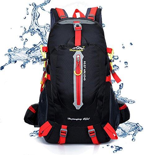 Imagen de sealands 40l resistente al agua día  senderismo camping backpack touring viaje  casual con protector de lluvia para exterior escalada negro  alternativa