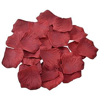1000 pétalos de rosa artificiales de Doutop en color rojo, rosa, blanco y morado, hechos en seda para usarlos sobre la mesa, como confeti, como regalo o para esparcirlos con ocasión de una boda.
