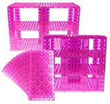 Big Briks Tower Construction Kit - Premium Structural Panels - Compatible with The Big Building Blocks of All Leading Brands - Klar Rosa