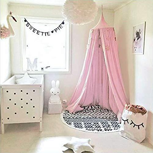 Baby Baldachin Betthimmel, Baumwollmoskitonetz, Babyspiel-Lesezelt, Schlafzimmer Dekoration - Gewaschen Nylon-kappe