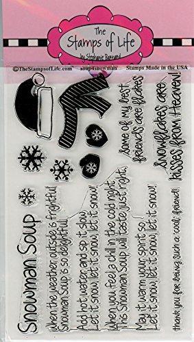 Die Briefmarken Of Life soup4snowman Briefmarken für Karte machen und Scrapbooking von Stephanie Barnard-Schneemann Sentiments - Rezepte Schnee