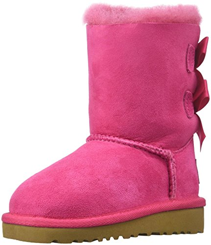 UGG Australia Bailey Bow, Stivaletti Unisex – Bambini Rosa (rosa)
