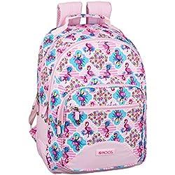 Moos Flamingo Pink Oficial Mochila Escolar 320x150x420mm