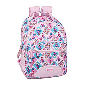 51UNTiuRHNL. SS324  - Moos  Flamingo Pink Oficial Mochila Escolar 320x150x420mm