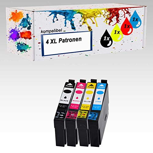 4 x Drucker Patronen Kompatibel für Epson PK 29 XL Expression Home XP 235 XP 245 XP247 XP332 XP342 XP345 XP 432 XP435 XP442 Neu