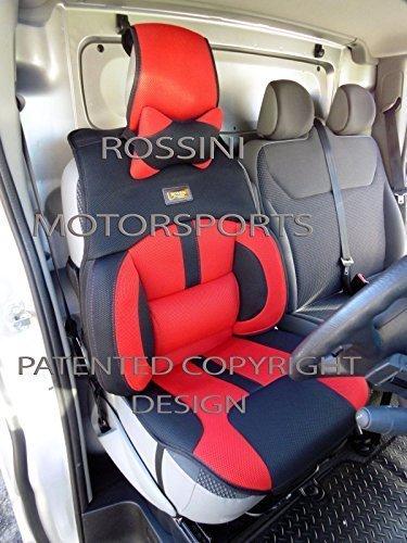 che si adatta a Nissan NP300Navara, coprisedili per auto, Bo 1ROSSINI sport rete rosso + nero, 2front