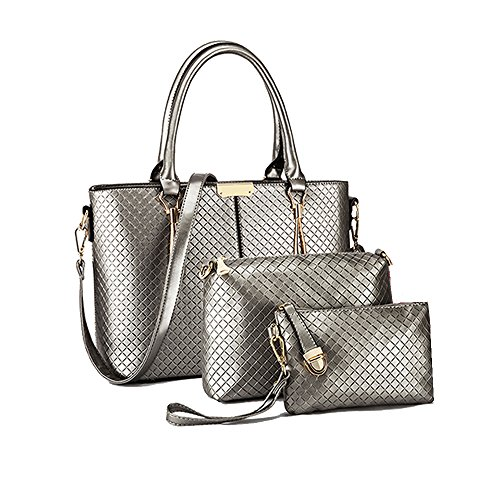 Anne, Borsa a spalla donna nero White Dark gray