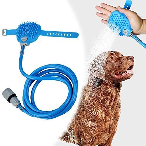 Livecity Haustierbadewerkzeug, Hundehaustierbadewerkzeug Massagegerät Duschkopfreinigung Waschbad Pinsel Sprayer B - 1 Duschkopf Abnehmbare In 2