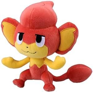 Pokemon: Best Wishes! (Noir et Blanc) Peluche / Figurine: Flamajou / Pansear 18 cm (T.T.)