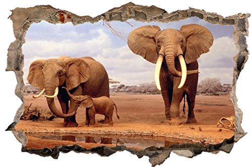 nten Afrika Natur 3D-Optik Wandtattoo 70 x 105 cm Wandbild Sticker Aufkleber D058 ()