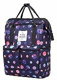 DISA Mini Small Backpacking Purse | Fits 12-inch iPad Pro | 35x23x15cm | Polka Marine