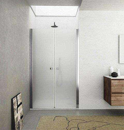 Box porta doccia, nicchia saloon due ante cristallo 6mm opaco h.195cm MYKONOS (115cm (112-116cm))