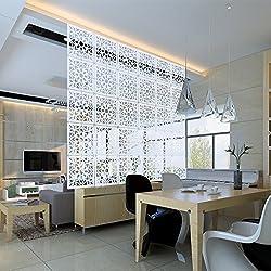 Kernorv Biombo de separación DIY Habitación Divisor separador de ambientes decorativos 12 paneles Blanco (Naturaleza (Blanco))