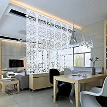 Kernorv Biombo de separación DIY Habitación Divisor separador de ambientes decorativos 12 paneles Blanco