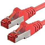 Netwerkkabel Cat 6-20m - rood - 1 stuk Ethernetkabel Lankabel Cat6 Sftp Patchkabel Set 1000 Mbit s