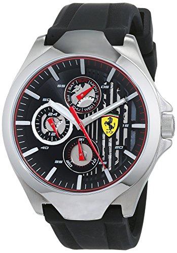 Scuderia Ferrari Unisex Multi Zifferblatt Quarz Uhr mit Silikon Armband 830510