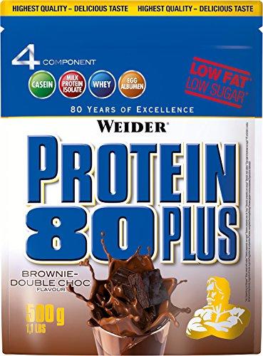 Protein Brownie (Weider, 80 Plus Protein, Brownie-Double Choc, 1er Pack (1x 500g))