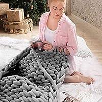 Supertop handgestrickte Garn manuelle gewebte Decke Kerngarn Runde dicke weiche Linie Wolle stricken DIY Geschenk