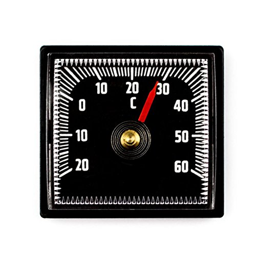 Lantelme 2303 Bimetall Analog Auto Thermometer selbstklebend mit Klebepad - Kunststoff schwarz