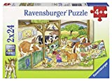 Ravensburger Puzzle–09195Child Classic–Day At The Farm–2x 24Pieces