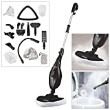 Voche® Black 1300W 16-in-1 Upright Steam Mop with Detachable Hand-Held Steam Cleaner with Attachments and Accessories - Includes Steam Window Cleaning Attachment and Garment Steamer! â