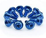 Peugeot Speedfight 2 AC LC Schrauben Verkleidung Aluminium blau eloxiert 10 Stück