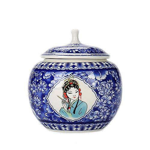 Box einzigartige handgefertigte Keramik Feuchtigkeitsnachweis zum Gedenken an niedlichen Welpen Blue-B ()