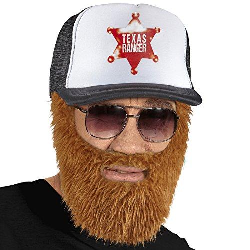 Für Mit Jungs Brille Kostüm - NET TOYS Trucker Basecap mit Vollbart Rednecks Baseball Kappe Hillbilly Busfahrer Mütze mit Bart LKW Fahrer Schirmmütze