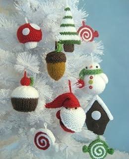Christmas Ornaments Knit Pattern Set