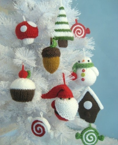 Christmas Ornaments Knit Pattern Set