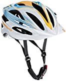 Cratoni Fahrradhelm Pacer, White/Orange/Blue Glossy, 54-58 cm, 113011B1