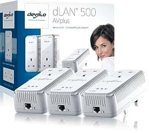 Devolo dLAN 500 AVplus (IEEE 1901/ HomePlug AV) Network Kit - Pack of 3 Plugs