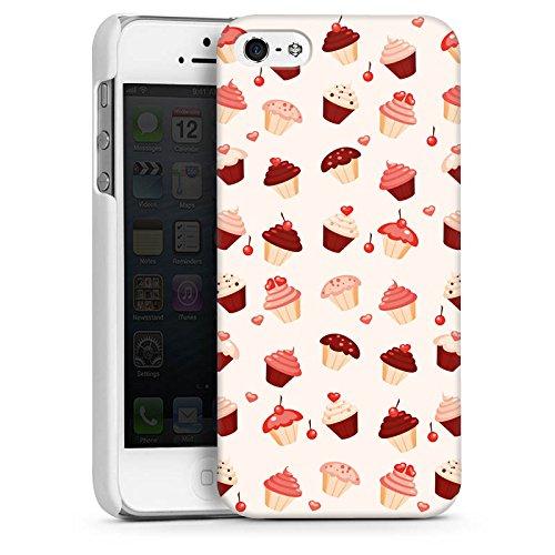 Apple iPhone 4 Housse Étui Silicone Coque Protection Sucrerie Sucré Sucrerie CasDur blanc