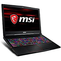 "MSI GE63 Raider 8RE-021XES - Ordenador portátil Gaming de 15.6"" Full HD 120 Hz (Coffeelake i7-8750H, 16GB RAM, 1TB HDD + 256GB SSD, Nvidia GeForce GTX 1060 6GB, Sin Sistema Op) Teclado QWERTY Español"