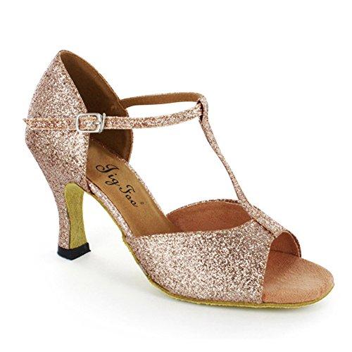 Damen Latein Tanzschuhe/Erwachsenen Lehrern mit Schuhen/ Schuhe tragbar weich tanzen am Ende des A