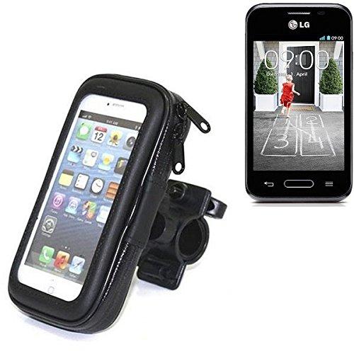 Montaje de la bici para LG L40, montaje del manillar para smartphones / teléfonos móviles, de aplicación universal. Conveniente para la bicicleta, motocicleta, quad, moto, etc. repelente al agua, a prueba de salpicaduras a prueba de lluvia, sostenedor del teléfono móvil de la bicicleta. | Bastidores de bicicletas Bikeholder bicicletas Navi titular titular GPS Pannier LG L40 manillar montar la caja al aire libre