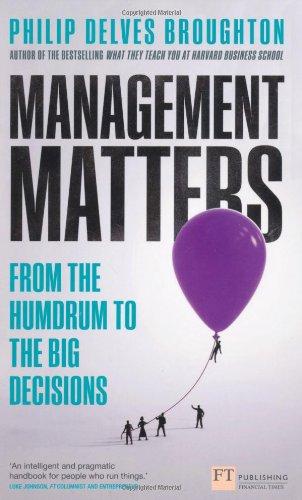 Management Matters (Financial Times) Philip Delves-broughton