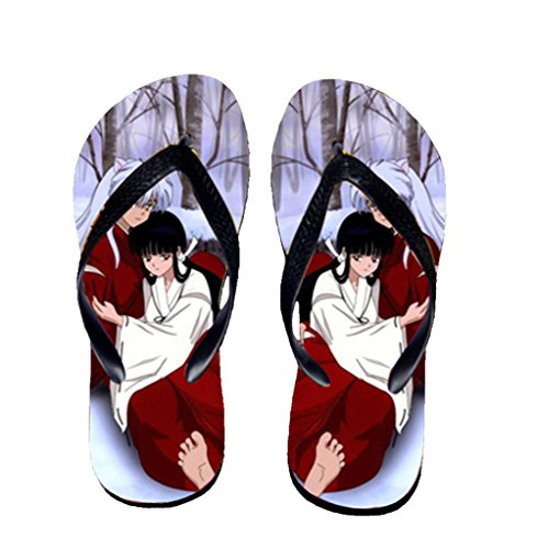 Bromeo Inuyasha Anime Unisex Flip Flops Zehentrenner Flip Pantoffeln 607