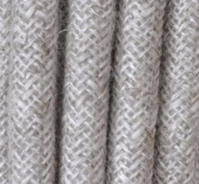 Textilkabel Stoffkabel Baumwolle grau , 2-adrig rund , 2x0,75 von Globe Warehouse - Lampenhans.de