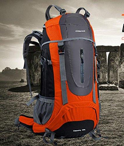 ROBAG Outdoor-Bergsteigen Tasche Travel Trek Rucksack große Reisen Taschen 60 l red 60 litres