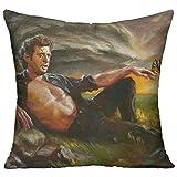 Meilitts Jeff Goldblum Sunset Custom Pillow Covers standard size cuscino casi decorativo cotone federa Protecter–45,7x 45,7cm (due lati)