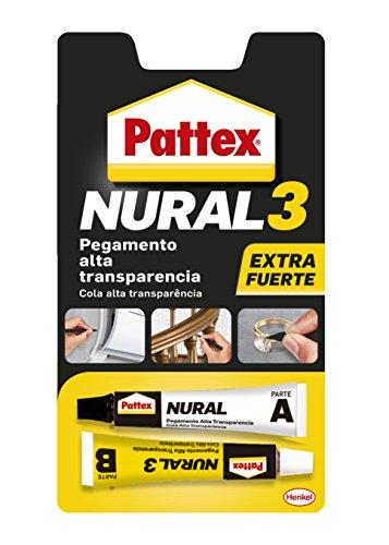 Pattex Nural 3, pegamento multiusos extra fuerte y resistente, transparente,22ml