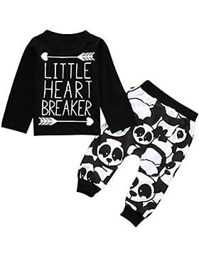 PAOLIAN Los NiñOs Infant Baby Boy Manga Larga Letra Blusas Tops + Pantalones Set Ropa